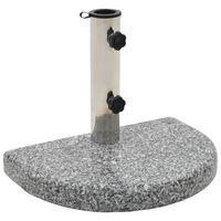 vidaXL Parasol Base Granite 10 kg Curved Grey