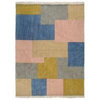 vidaXL Handwoven Kilim Rug Cotton 120x180 cm Printed Multicolour
