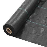vidaXL Weed & Root Control Mat PP 2x50 m Black