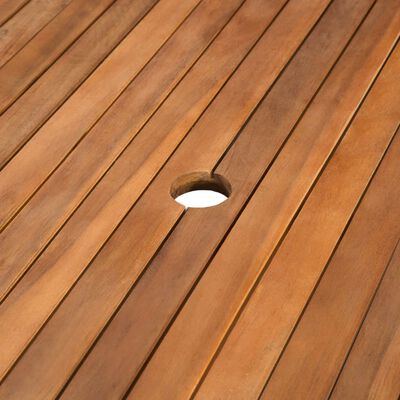 vidaXL Garden Table 150x90x74 cm Solid Acacia Wood