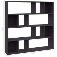 vidaXL Room Divider/Book Cabinet Grey 110x24x110 cm Chipboard