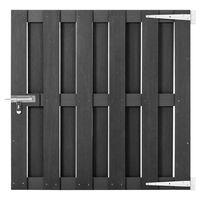 vidaXL Garden Gate WPC 100x100 cm Grey