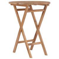 vidaXL Folding Garden Table 60 cm Solid Teak Wood