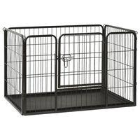 vidaXL Puppy Playpen Steel 93x63x61cm