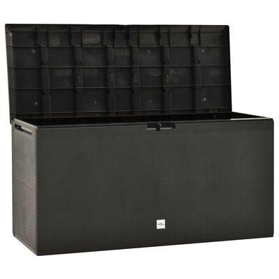 vidaXL Garden Storage Box Anthracite 114x47x60 cm