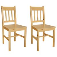 vidaXL Dining Chairs 2 pcs Pinewood