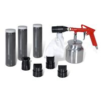 Air Sand Blasting Kit Sand & Nozzles Included