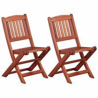 vidaXL Children's Dining Chairs 2 pcs Solid Eucalyptus Wood