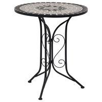 vidaXL Mosaic Bistro Table Grey 61cm Ceramic