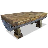vidaXL Coffee Table Solid Reclaimed Wood 90x50x35 cm