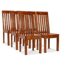 vidaXL Dining Chairs 6 pcs Solid Wood with Sheesham Finish Modern
