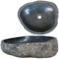 vidaXL Basin River Stone Oval 46-52 cm