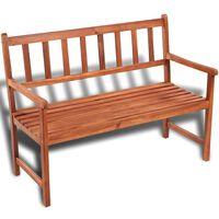 vidaXL Garden Bench 120 cm Solid Acacia Wood