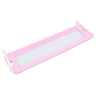 vidaXL Toddler Safety Bed Rail Pink 120x42 cm Polyester