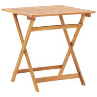 vidaXL Folding Garden Table 70x70x75 cm Solid Acacia Wood