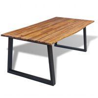 vidaXL Dining Table Solid Acacia Wood 200x90x75 cm