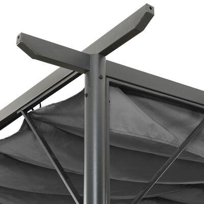 vidaXL Pergola with Retractable Roof Anthracite 3x3 m Steel 180 g/m²