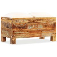 vidaXL Storage Bench Solid Reclaimed Wood 80x40x40 cm