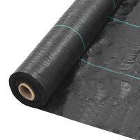 vidaXL Weed & Root Control Mat PP 2x25 m Black