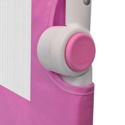 vidaXL Toddler Safety Bed Rail 2 pcs Pink 150x42 cm