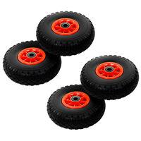 vidaXL Sack Truck Wheels 4 pcs Solid PU 3.00-4