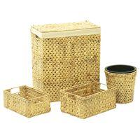 vidaXL 4 Piece Bathroom Set Water Hyacinth