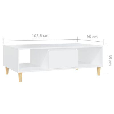 vidaXL Coffee Table White 103.5x60x35cm Chipboard