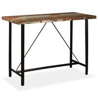 vidaXL Bar Table 150x70x107 cm Solid Reclaimed Wood