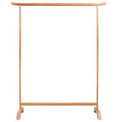 vidaXL Clothes Rack 125x175 cm Solid Oak Wood