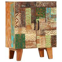 vidaXL Hand Carved Sideboard 60x30x75 cm Solid Reclaimed Wood