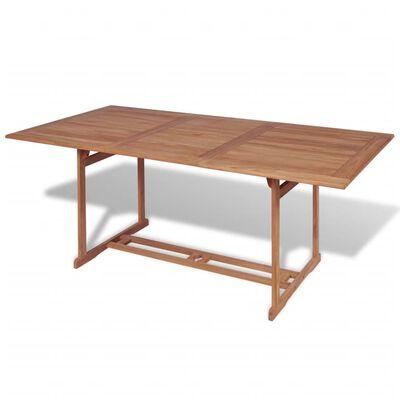 vidaXL Garden Table 180x90x75 cm Solid Teak Wood