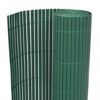 vidaXL Double-Sided Garden Fence PVC 150x300 cm Green