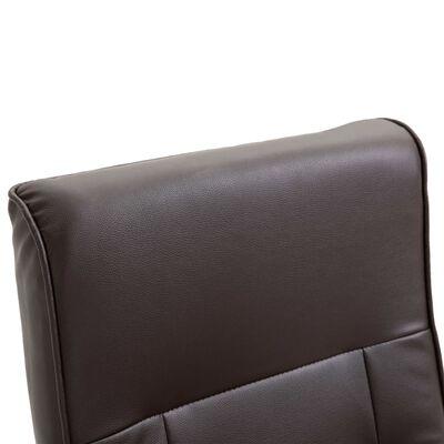 vidaXL Swivel TV Armchair Brown Faux Leather