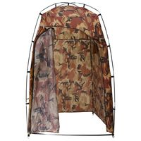vidaXL Shower/WC/Changing Tent Camouflage