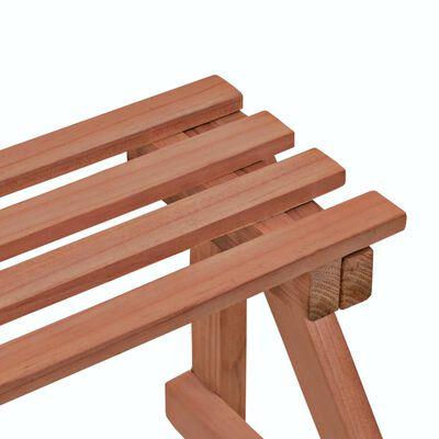 vidaXL 3-Tier Plant Stand Cedar Wood 48x45x40 cm