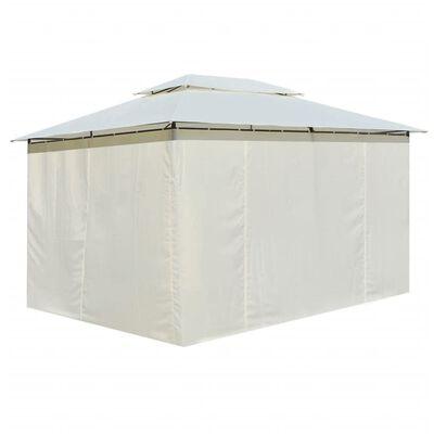 vidaXL Garden Marquee with Curtains 4x3 m White