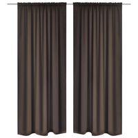 vidaXL Blackout Curtains 2 pcs Slot-Headed 135 x 245 cm Brown