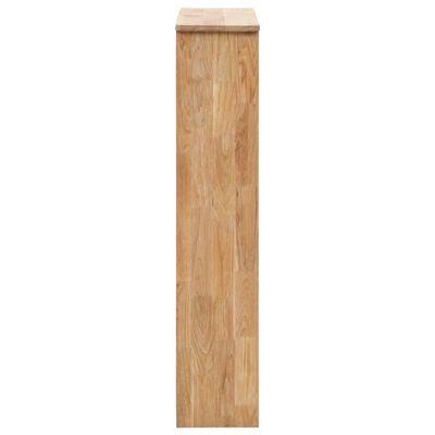 vidaXL Shoe Storage Cabinet 55x20x104 cm Solid Walnut Wood
