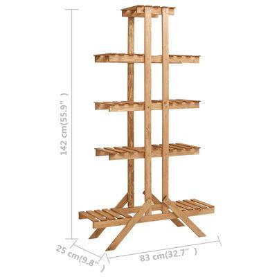 vidaXL Plant Stand 83x25x142 cm Firwood