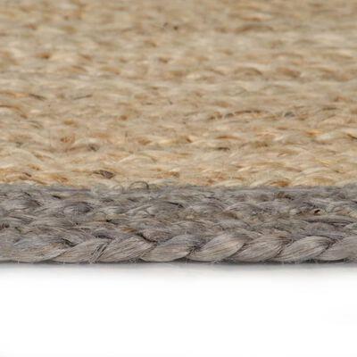 vidaXL Handmade Rug Jute with Grey Border 150 cm
