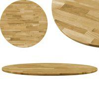 vidaXL Table Top Solid Oak Wood Round 23 mm 700 mm