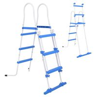 vidaXL Above-Ground Pool Safety Ladder with 3 Steps 107 cm