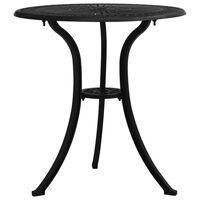 vidaXL Garden Table Black 62x62x65 cm Cast Aluminium