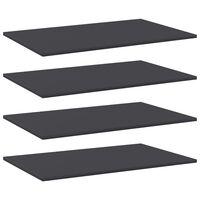 vidaXL Bookshelf Boards 4 pcs Grey 80x50x1.5 cm Chipboard