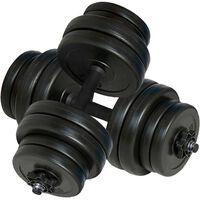 vidaXL Dumbbells 2x15 kg