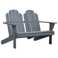 vidaXL Double Adirondack Chair Wood Grey