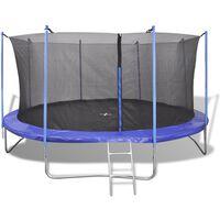 vidaXL Five Piece Trampoline Set 3.66 m
