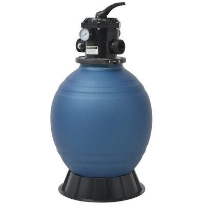 vidaXL Pool Sand Filter with 6 Position Valve Blue 460 mm