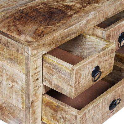vidaXL Coffee Table Rough Mango Wood 70x70x40 cm